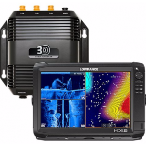 Lowrance HDS-12 Carbon Fishfinder GPS Chartplotter Combo StructureScan 3-D Transducer Module