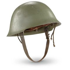 Serbian Military Surplus Steel Pot Helmet, Used
