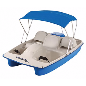 Sun Dolphin Water Wheeler 5-Person Electric Pedal Boat with Canopy