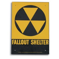 U.S. Military Surplus Fallout Shelter Steel Sign, New