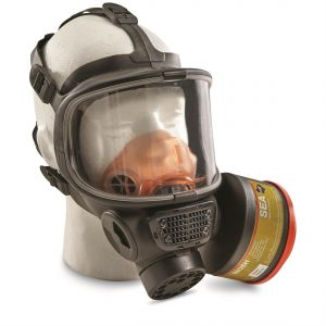 U.S. Military Surplus Full Face Gas Mask Respirator, Used, NATO Filter, New