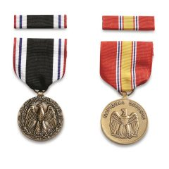 U.S. Military Surplus POW and National Defense Medals, 2 Pack, New