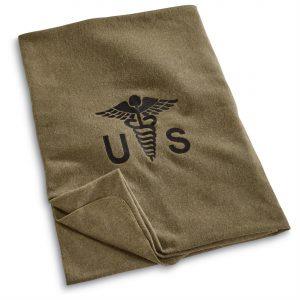 U.S. Military Surplus Wool Officer's Medical Blanket