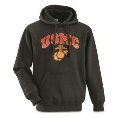 USMC Military Surplus Hooded Sweatshirt