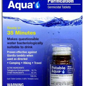 Potable Aqua Water Purification Germicidal Tablets – For Hiking, Camping, and Emergency Drinking Water